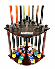 Cue Rack Only - 8  Pool Billiard Stick &  Ball Floor Stand W Scorer Mah Finish