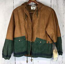 Leather Jacket, 2-Tone w/ Hood, Brandon Thomas New w/ Tags,Men's Sz Med