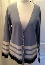 Tie Hip Length V Neck Striped Jumpers & Cardigans for Women