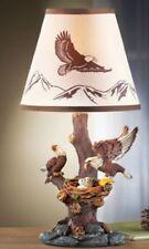Unique Bald Eagle Statue Nest Small Side Table Lamp Bird's Nest Sculpture