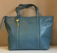 Genuine Fossil Leather Sloan Tote Faded Indigo BNWT £169