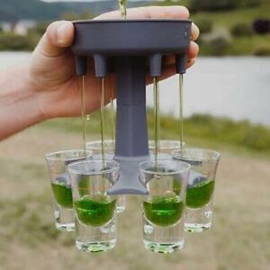 6 Shot Glass Dispenser Holder Drinking Games Shot Glasses Get Party Started Lot