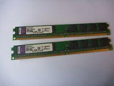 2 x 1GB = 2GB PC2-6400 DDR2 Non-ECC 240Pin Desktop KTH-XW4400C6/1G RAM Memory