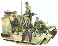 1/35 Resin WWII German Panzer Riders 4 Kit unpainted unassembled