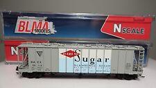 Blma (N-Scale) Diamond Sugar 3500 cu.ft. Covered Hopper Car #50116 Nib Rtr