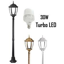 Lampione LED palo giardino terrazzo mod.New York 180cm lampada E27 30W resa 200W