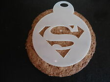 Laser cut small superman design cake, cookie, craft & face painting stencil