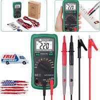 Digital LCD Multimeter AC/DC Voltage Ohm Ammeter Volt Tester Meter &Test Lead US