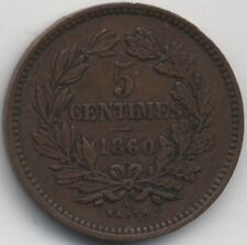 More details for 1860 a luxembourg william iii 5 centimes | key date | pennies2pounds