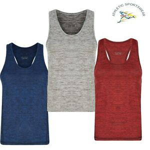 Womens Tank Top Ladies Vest Activewear Gym Sports Sleeveless Fitness Breathable