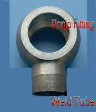 "Fitting 6mm or 1/4"" OD Tube Weld x 10mm or 3/8"" Banjo Steel L-8b"