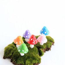 Miniature Dollhouse Small Resin Mushroom Toadstool Fairy Garden Ornament Gnome