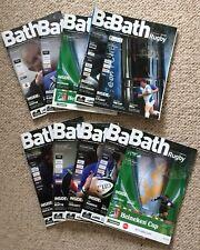 10 Bath Rugby Programmes 2005-2006 Season