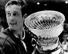 Jean Beliveau Montreal Canadiens Cup UNSIGNED 8x10 Photo (B)