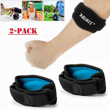 2 Pack Tennis Elbow Brace Strap Tendonitis Golfers Gel Band Golf Relief Support