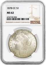 1878 CC Carson City $1 Morgan Silver Dollar VAM 11 Lines In Wing NGC MS62