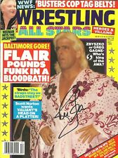 RF54 Ric Flair signed Wrestling Magazine  w/COA History Teddy Long Sid Vicious