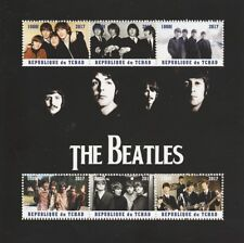 Chad 6896 - 2017 The Beatles Perf Sheetlet que contiene 6 valores U/M