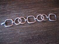 zeitlos elegantes Art Deco Armband 835er Silber 3 cm breit ca. 20,5 cm lang