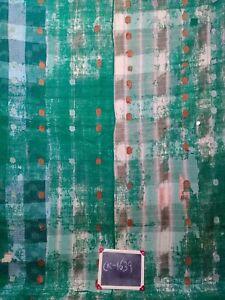Kantha work Vintage Cotton Reversible Kantha Quilt Gudari Bedspread Twin Throw