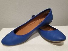 Lucky Brand Size 7.5 Woman's Flat Blue Slip on Shoes. Cute pair