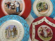 4 mismatched antique/vintage Portrait Cabinet Plate Hauffman Victoria Austria