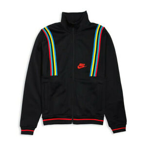 Nike Mens NSW French Terry Heritage 1988 Team Jacket AR1867-010 Size XL $125 New