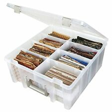 ArtBin Super Satchel Double Deep with Removable Dividers, Clear Art and Craft