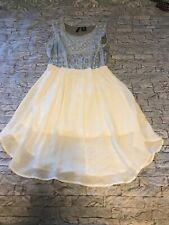 Women's SIze Ps New Directions Off White Blue Gray Dress Preowned