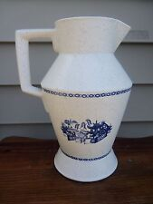 1973 NELSON McCOY BLUE WILLOW STONEWARE PITCHER # 56 USA
