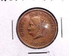 CIRCULATED 1945M 5 CENTAVOS MEXICAN COIN!! (23015)