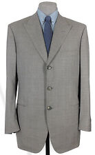 EXCELLENT NWT GIANLUCA ISAIA HAND MADE, SUPER 120 LIGHT ASH GRAY WP 43-44R 13191