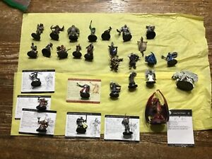 Miniatures Lot  of 27 D&D Pathfinder Fantasy Encounter Figures Figurine