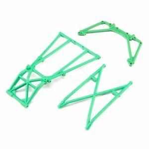 Losi LOS241043 Rear Cage and Hoop Bars Green : LMT