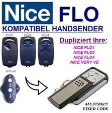 Nice FLO1 / Nice FLO2 / Nice FLO4 / Nice VERY VE kompatibel handsender / KLONE