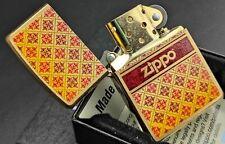 Zippo Lighter: CLASSIC PATTERN DESIGN (Messing gebürstet/Brass Brushed),60002723