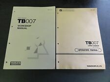 Takeuchi TB007 Workshop and Operators Manual Compact Excavator