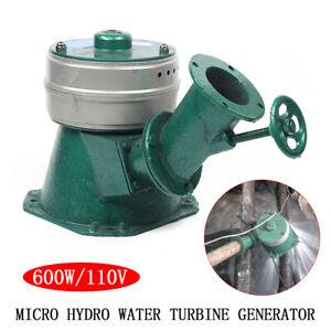 600W Household Micro Hydro Water Turbine Electric Generator Hydroelectric Power