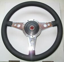 "New 14"" Leather Steering Wheel & Adaptor for MG Midget 1970-77  Moto-Lita"