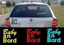 Autoaufkleber - Baby an Bord Größe 10 cm x 10 cm - diverse Farben  Art.780