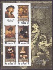 KOREA Pn. 1983 MNH** SC#2268 Sheet,  Rembrandt Paintings. Imp.