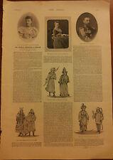 INCORONAZIONE ZAR NICOLA II ROMANOV=RIVISTA 1896=FOTO ARTICOLO DISEGNI=3 PAGINE