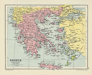 Map of Greece by George Philip c1934