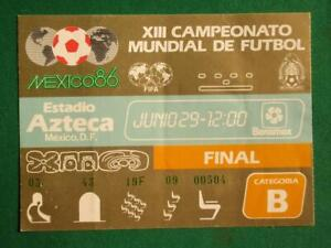 1986 MEXICO XIII SOCCER WORLD CUP JUNE 29 ARGENTINA - GERMANY FINAL MATCH TICKET