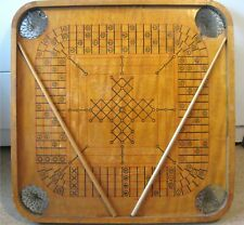 """Antique CARROM BOARD STYLE (B)  """"4 SURFACE COMBINATION"""" SPIDER & FLIES"""
