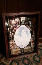 Vintage Pub Mirror CHOCOLAT POULAIN Advertising Mirror .  (1970s).