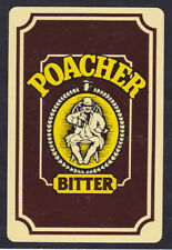 Poacher Bitter,Brewery,Single playing Card