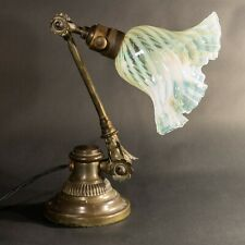 More details for rare arts and crafts dugdills was benson 'open petal cog' brass table/desk lamp