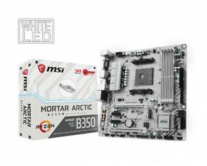 MSI B350M MORTAR ARCTIC & AMD RYZEN 5 1600 - MOBO and CPU bundle +CPU FAN