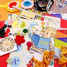 Retro School Days Vintage Mega Lot-junk journaling, card making, scrapbooking